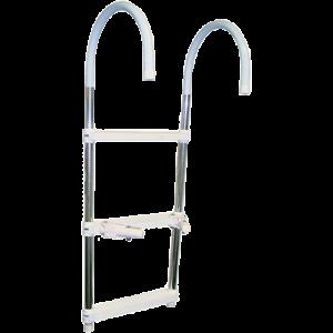 Escada Telescópica de 3 e 4 Degraus em Alumínio